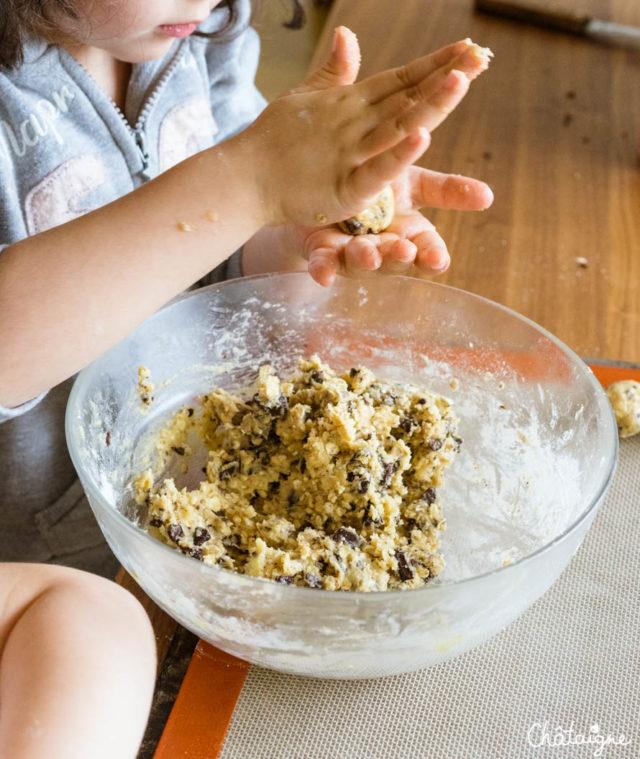 Cookies aux flocons d'avoine et pépites de choc'