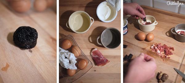 Le cas de la truffe : oeufs cocotte à la truffe !