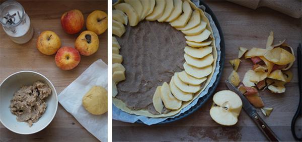 Tarte aux pommes et frangipane