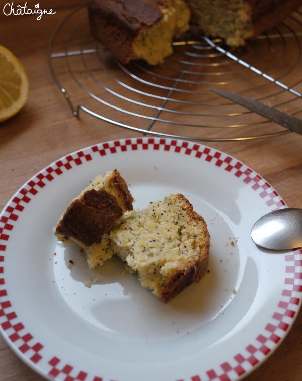 Cake citron-pavot