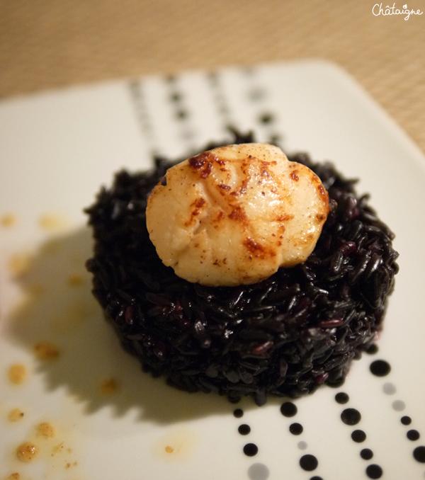 Comme un risotto, noix de Saint Jacques snackées vanillées [rien que ça]