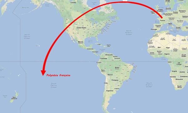Tahiti carte mondiale