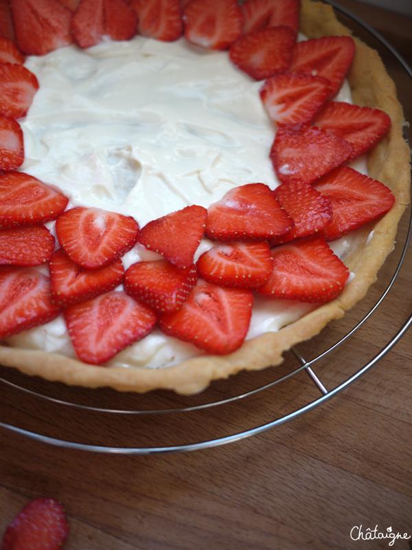tarte aux fraises et chocolat blanc