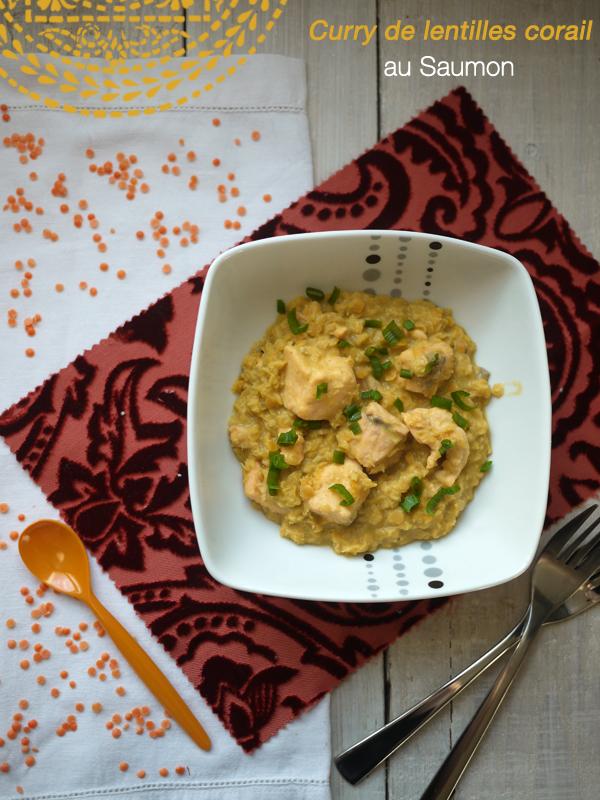 curry de lentilles corail au saumon