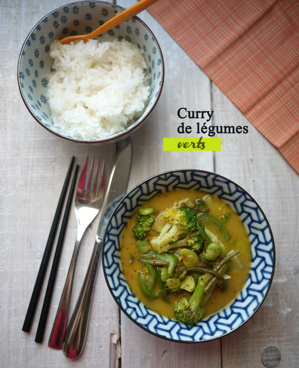 curry de légumes verts