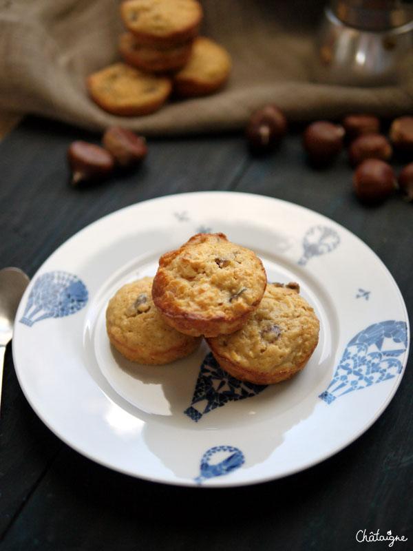 gâteaux moelleux pommes-châtaignes