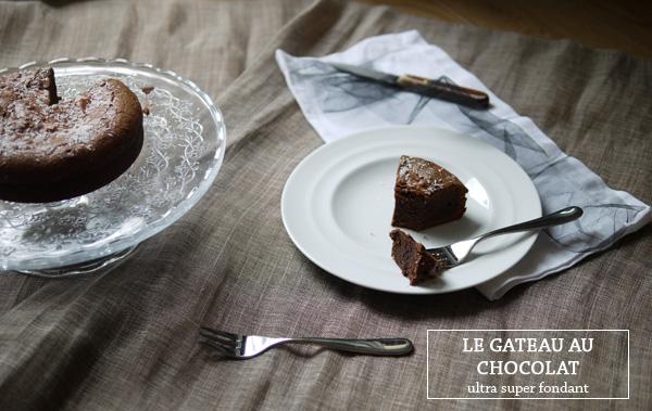 gâteau au chocolat très fondant