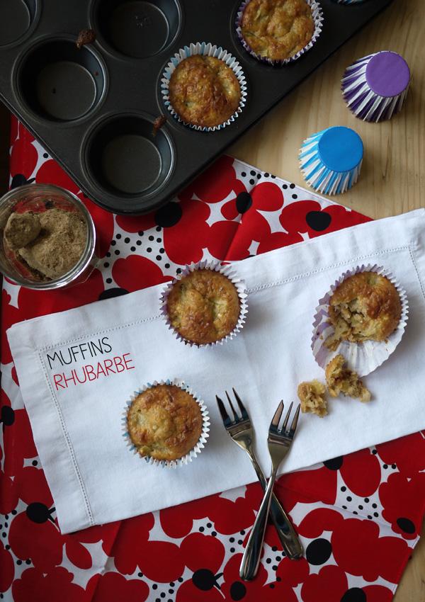 Muffins à la rhubarbe