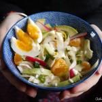 Salade hivernale haute en couleurs