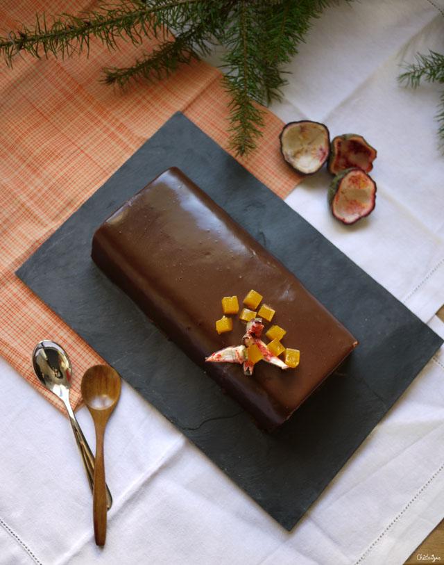 bûche chocolat-passion