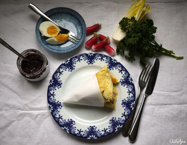 Soccas et légumes d'hiver à la crème d'olives