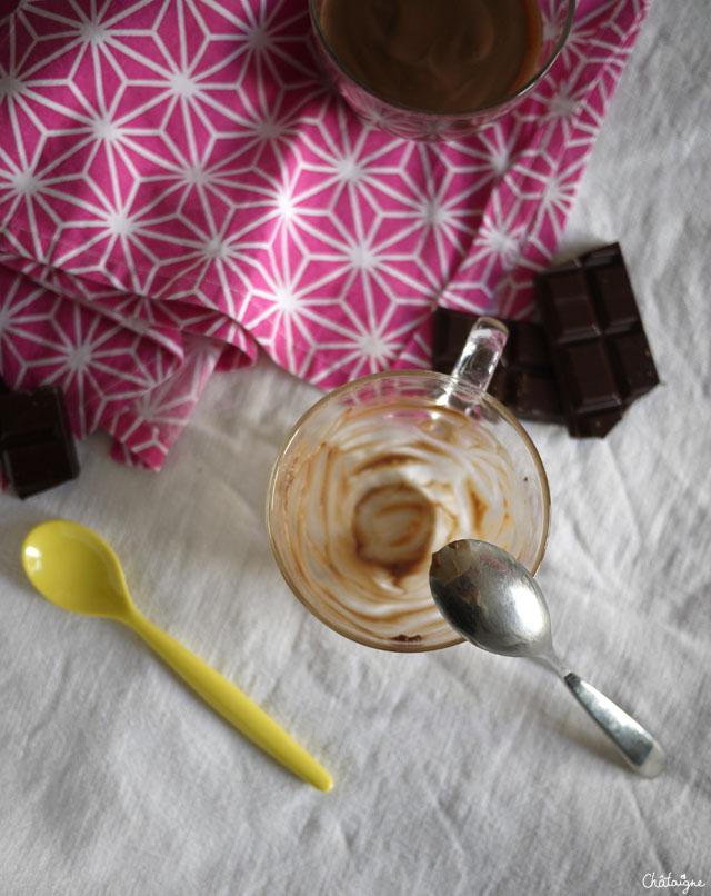 crèmes au chocolat au lait de soja