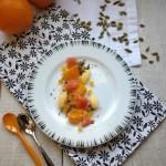 Salade d'agrumes, crème à la cardamome