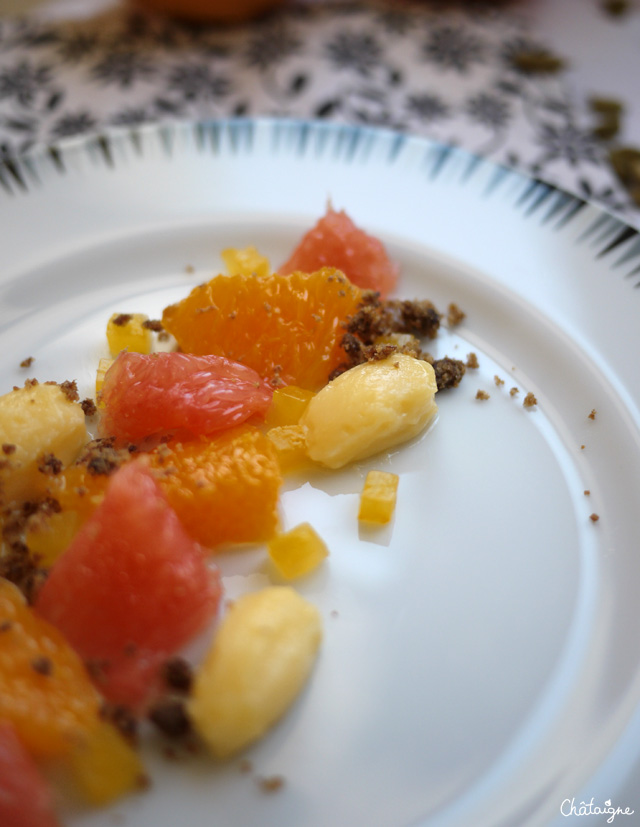 salade d'agrumes et cardamome