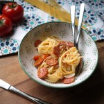 One-Pan Pasta au chorizo [from Martha Stewart]