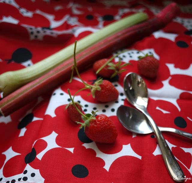 Confiture fraises-rhubarbe