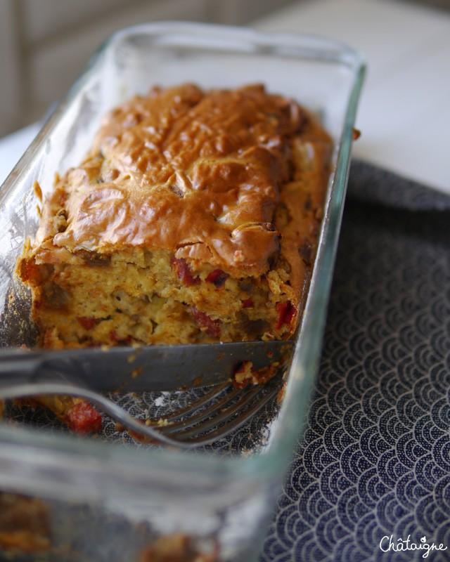 Cake chorizo-aubergines (2)
