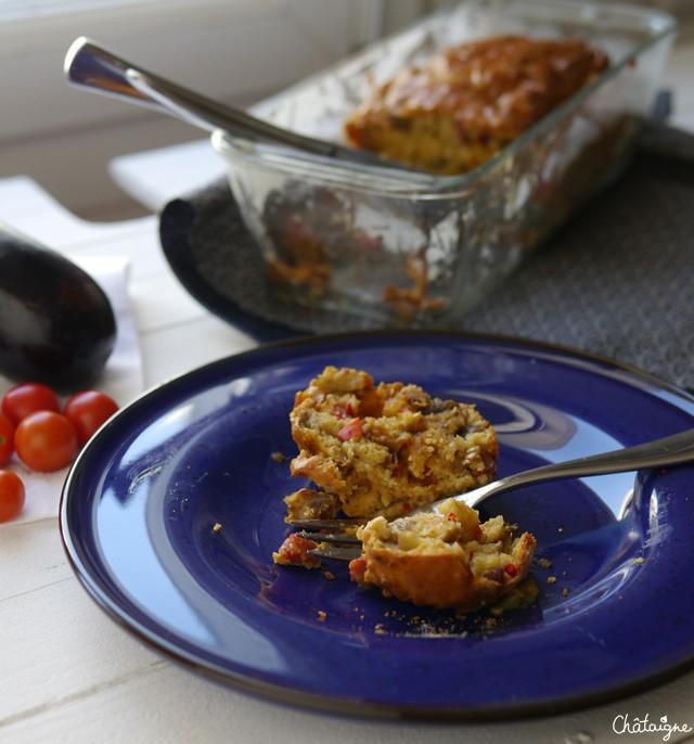 Cake chorizo-aubergines (3)