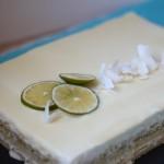 Opéra citron-citron vert et mousse coco