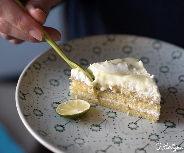Sur un air d'Opéra [gâteau citron-citron vert & mousse coco]