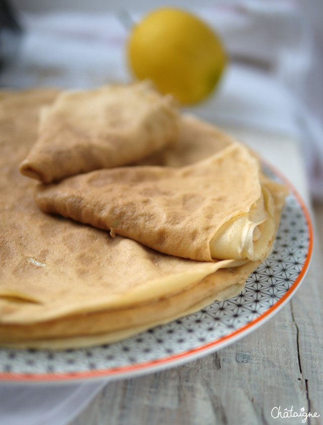 Crêpes au lait d'avoine et tahin - Chandeleur