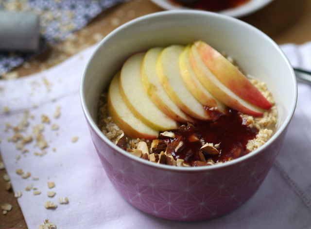 Porridge aux pommes [Apples overnight oats]