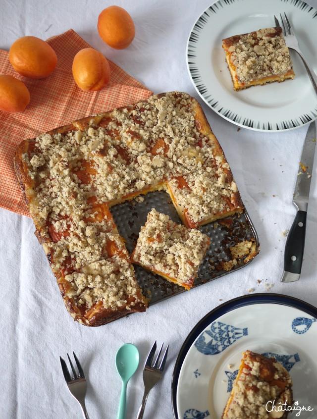Crumbcake aux abricots