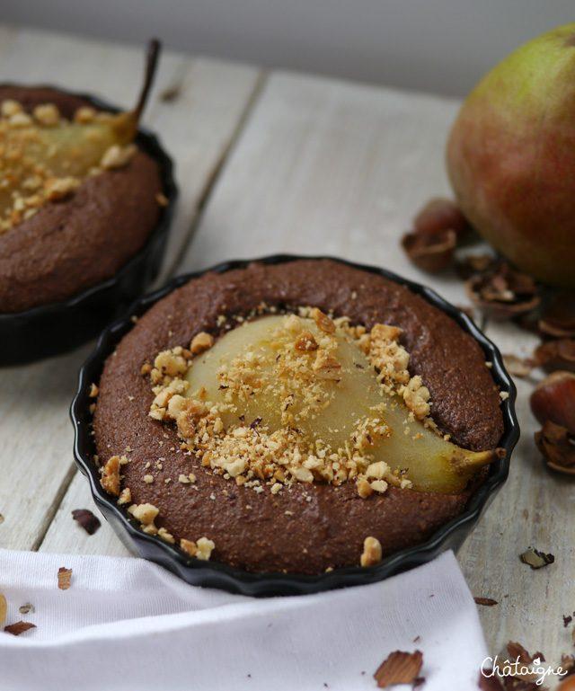 Gâteaux poire et chocolat - Blog de Châtaigne (3)