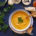 Soupe de patates douces, curry-coco