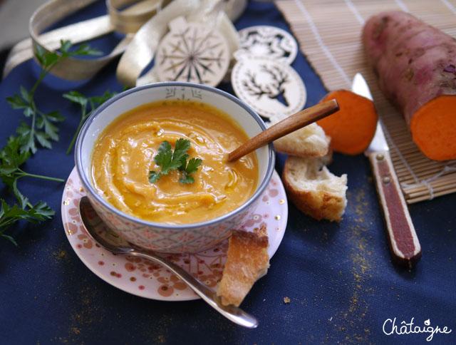 Soupe de patates douces [curry-coco]