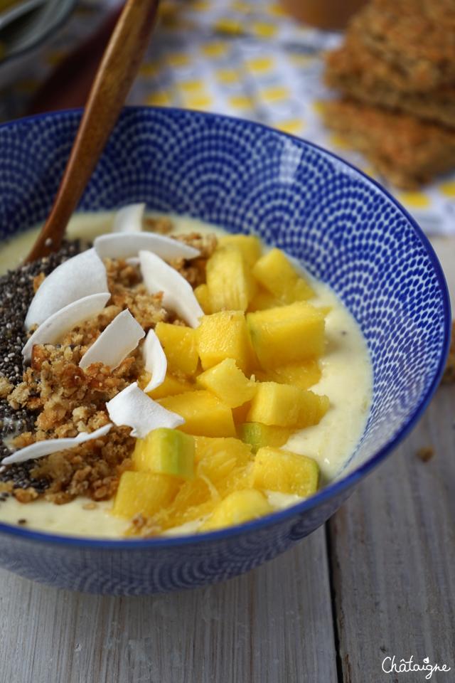 smoothie bowl mangue-banane