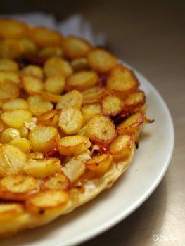Tatin aux pommes de terre nouvelles