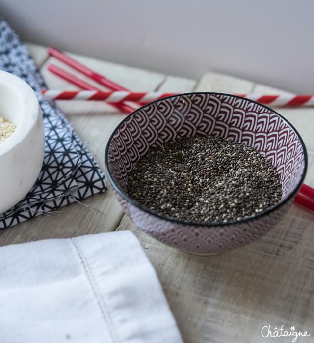 smoothie kiwis, coco et graines de chia