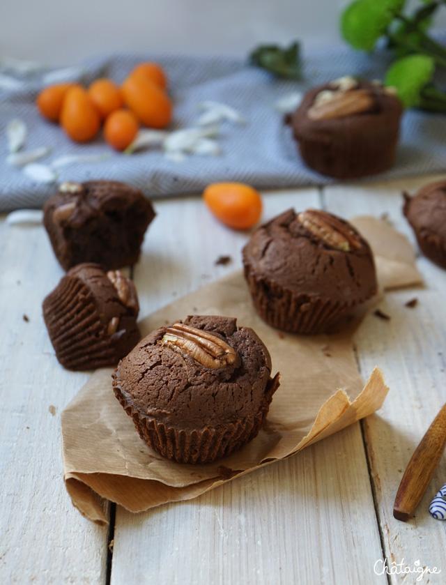 Muffins chocolat-pécan