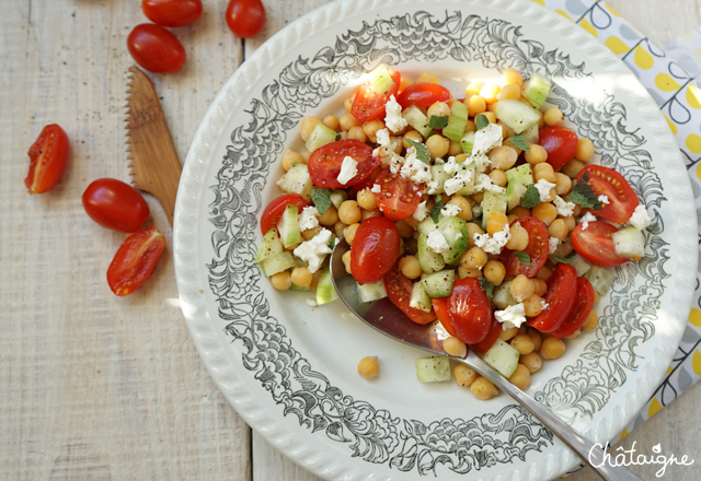 Salade de pois chiches estivale