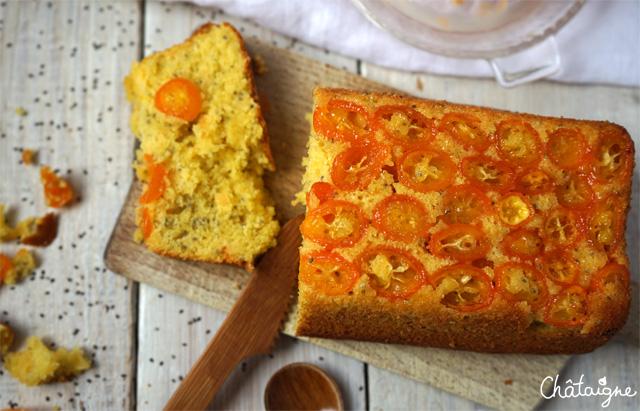 Cake au pamplemousse et kumquats