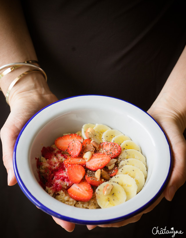 Porridge à la fraise