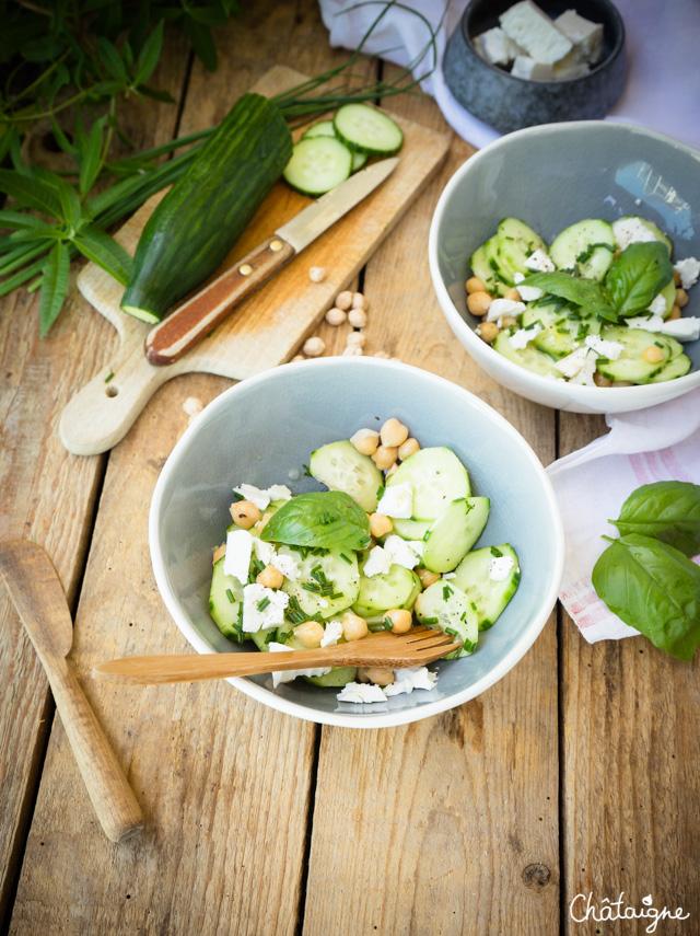 Salade de concombres