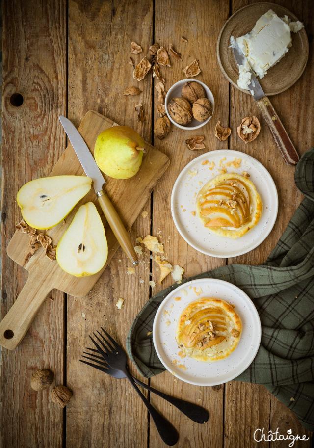 Tartelettes aux poires et gorgonzola