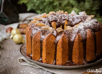 Bundt cake aux marrons glacés et chocolat