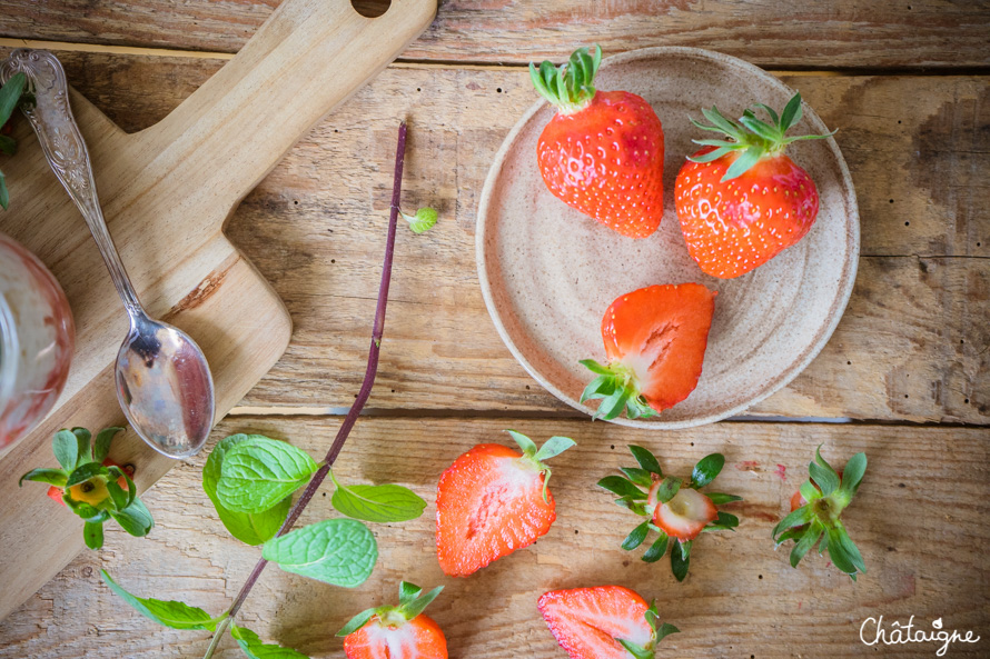 Riz au lait aux fraises