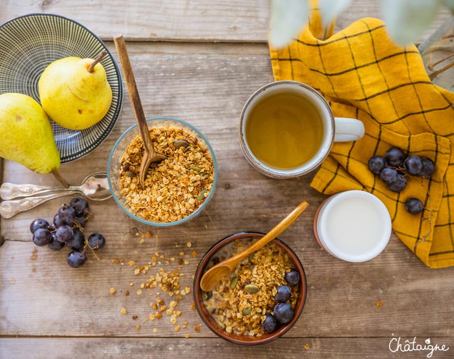 Granola aux graines