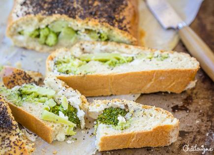 Chausson au brocoli et fromage de chèvre