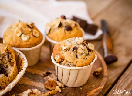Muffins banane-chocolat