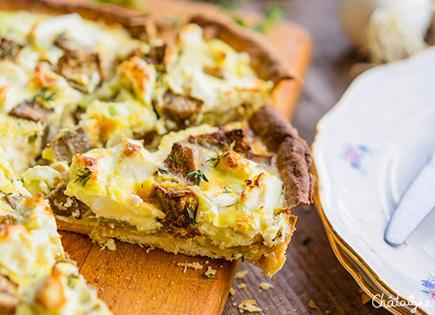Tarte aux légumes d'été grillés et feta [easy and yummy^^]
