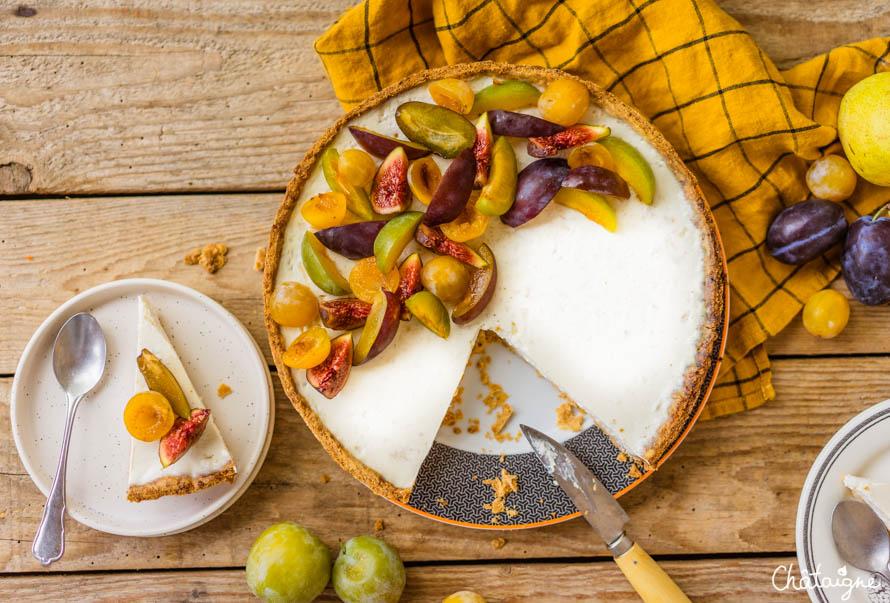Tarte panna cotta aux prunes et figues (trop bon)