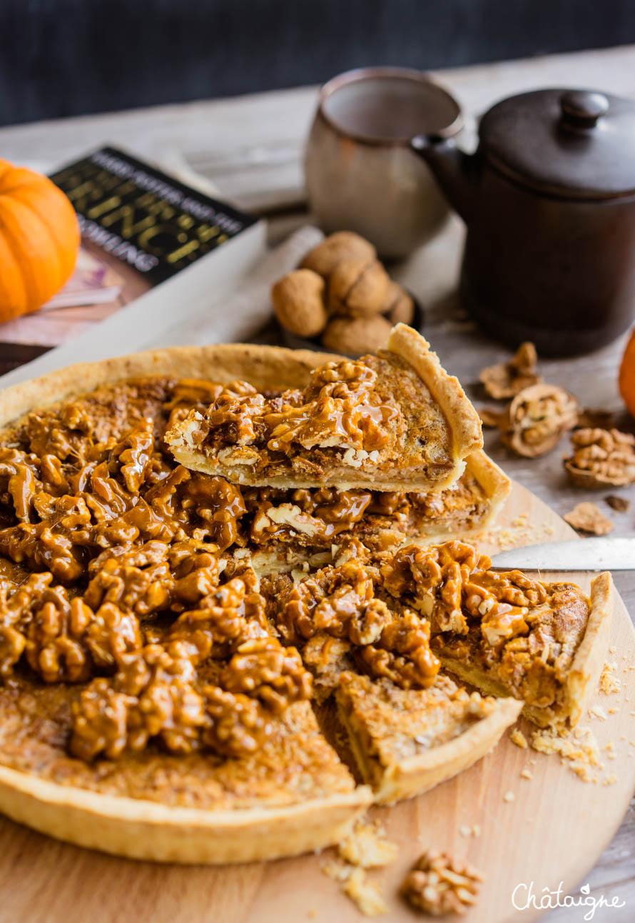 Tarte aux noix [classique et trop bon goûter]