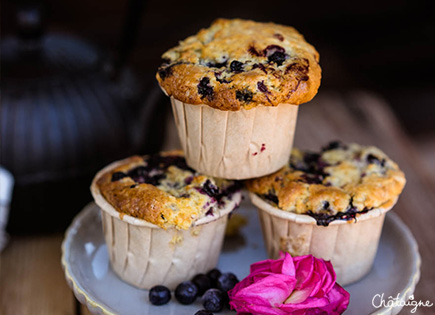 Muffins aux myrtilles [ou fameux Blueberry muffins]