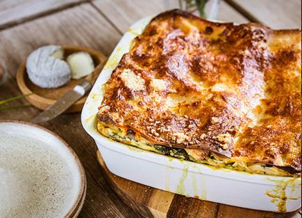 Lasagnes épinards et chèvre [végétarien]
