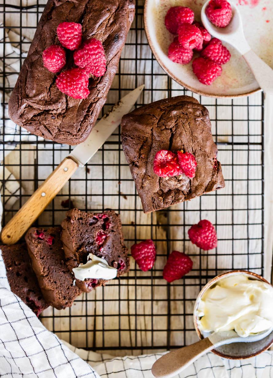gâteau chocolat-framboises
